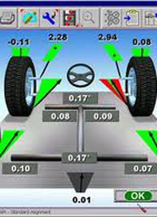 Регулировка развал-схождения для легковых авто на Оболони