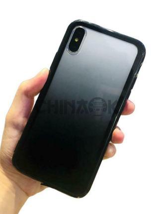 Градиентный Черный чехол для iPhone X/XS