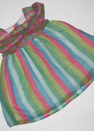 Платье туника 9-12 мес debenhams