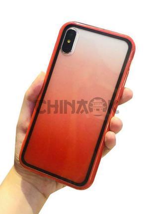 Градиентный красный чехол для iPhone X/XS