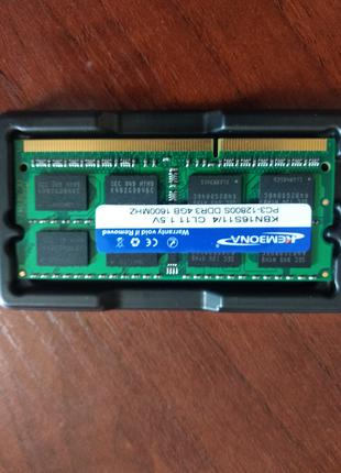 Оперативная память ddr 3 4 GB 1600 MHZ 1.5V