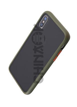 Чехол бампер Серо-Зеленый для Iphone XR