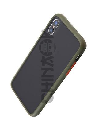 Чехол бампер Серо-Зеленый для Iphone X/XS