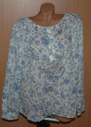 Блуза принтованая бренда marks & spencer /100%хлопок / свобод...
