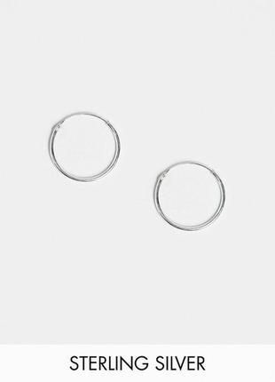 💖🌺 серебряные миниатюрные серьги-кольца колечки конго от kings...
