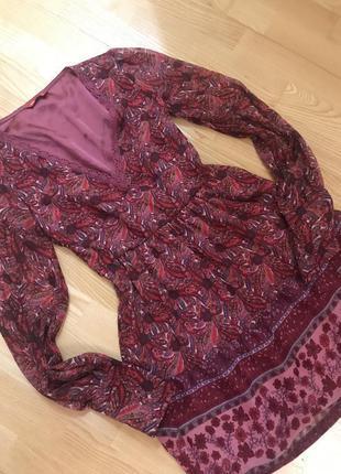Платье шифоновое с длинным рукавом