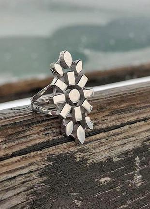 """Кольцо из серебра """"сити"""" дизайнерская ручная работа"""