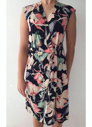 Платье, плаття, сукня з квітами, платье на запах в цветочный п...