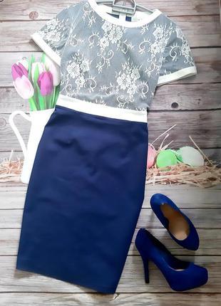 Стильное силуэтное платье хлопок стрейч