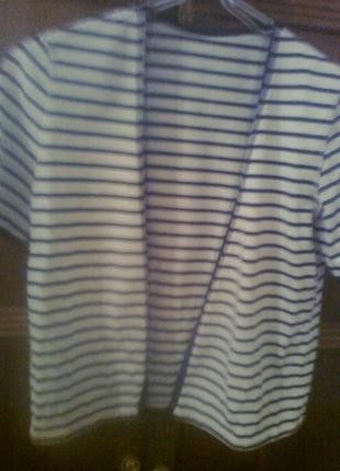 Стильная кофта-пиджак в синюю полоску ,польша
