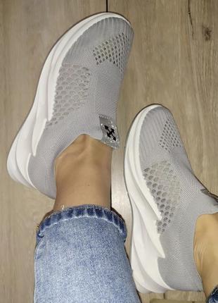 Летние 🌿 кроссовки женские кросы сетка текстиль платформа