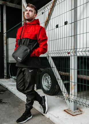 Спортивный костюм мужской найк, nike красно - черный . барсетк...