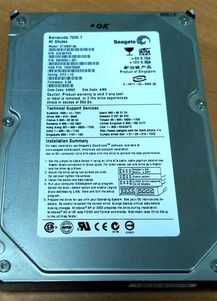 "HDD Seagate Barracuda 7200.7 ST340014A 3.5"" 40GB IDE"