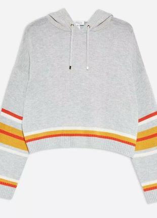 Укороченный свитер кофта с капюшоном кашемир от topshop