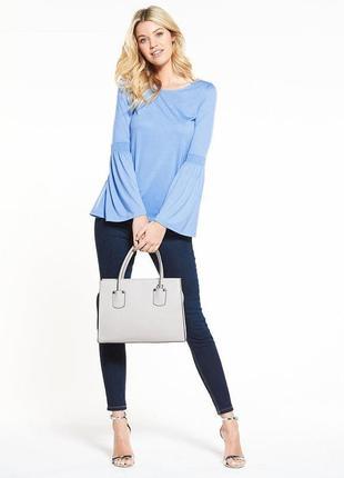 Трикотажная блуза кофта удлиненная спинка (l)