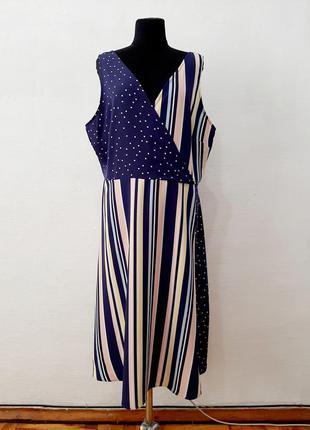 Стильное модное и асимитричное платье большого размера