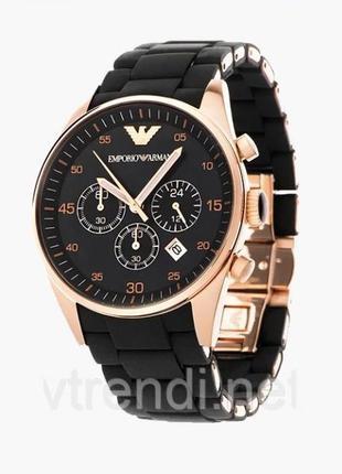 Наручные часы в стиле Emporio Armani ( black) Высокое качество!