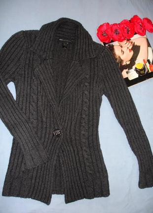 Кофта свитер пуловер джемпер mango размер 42 / 8 плотная толст...