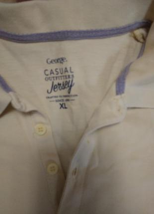 Мужская тениска поло george; xl