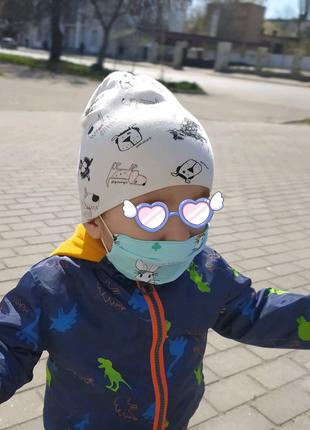 Детская многоразовая маска из хлопка