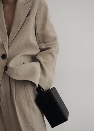 Шикарные льняные широкие брюки палаццо от zara