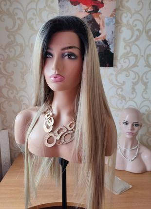 Парик термоволокно 80 см как натуральные волосы