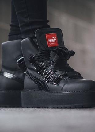 Оригинал! Ботинки женские Puma Fenty x Rihanna Black Sneaker Boot