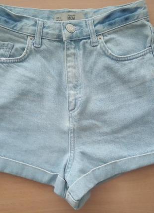 Джинсовые шорты topshop на р.xs-s