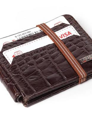 Кошелек butun 121-002-004 кожаный коричневый