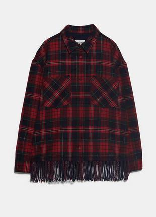 Куртка/ рубашка с бахромой zara