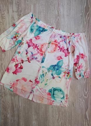 Блузка с открытыми плечами yours размер 20