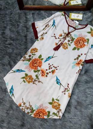 Новое! платье туника из коттона/хлопка