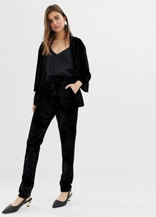 Черные зауженные брюки,высокая посадка gardeur