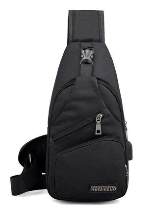 Мужская сумка через плечо, рюкзак, бананка, мессенджер с usb п...