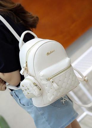 Женский городской рюкзак bailimen с кошельком в наборе, белый ...