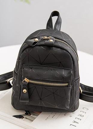 Женский молодежный геометрический мини рюкзак из эко-кожи diam...