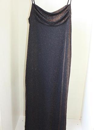 Платье в пол длинное вечернее с люрексом блеском блестками gla...