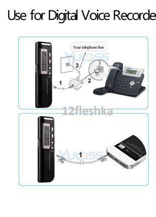 3,5мм-RJ11 телефонный адаптер линейный кабель для цифрового дикто