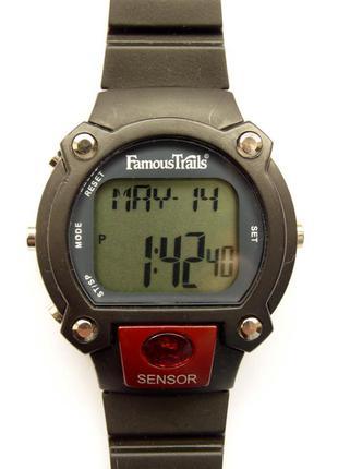 Famous trails мужские часы из сша с пульсометром и секундомером