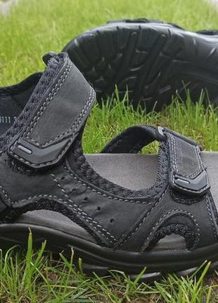 Босоножки сандалии подростковые кожаные nwl20111 чёрные и кори...