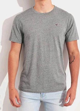 Мужская серая футболка Hollister