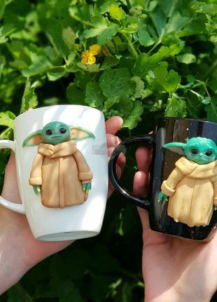 Игрушки кружки набор чашек с бэби Йодами подарок парню и девушке