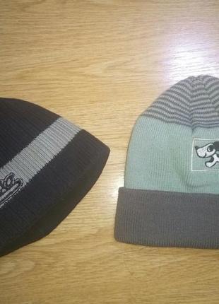 Теплая вязанная шапка и шарф 1-4 года.комплект 2 шт.