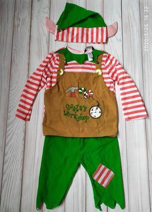 Новогодний костюм эльф 3-4 года