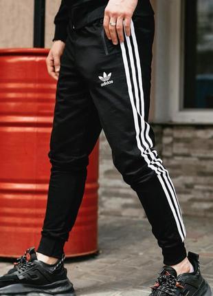 Спортивные штаны в стиле adidas originals черные