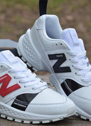 Оригинал new balance! кроссовки белые натур.кожа 574 sport ms5...