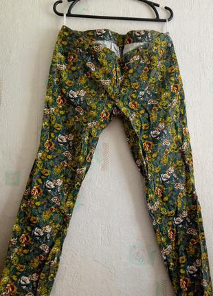 Брюки штаны цветы rainbow