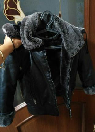 Куртка зимняя мех для малышей
