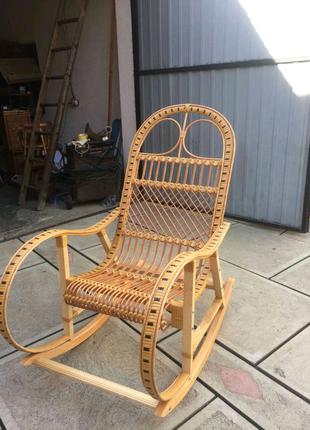 Кресло-качалка плетёное из лозы, ручная работа.