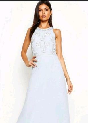Платье макси, выпускное, вечернее